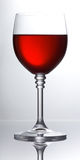 szklany czerwone wino Obrazy Stock