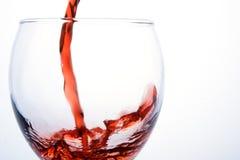 szklany czerwone wino Obraz Royalty Free