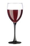 szklany czerwony winograd Zdjęcie Stock