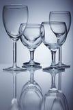 szklany czysty wino obraz stock