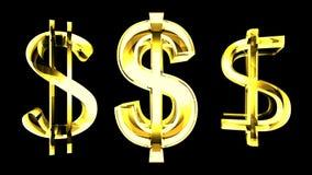 Szklany Dolarowy znak - 3d renderingu ilustracja Zdjęcie Stock