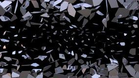 Szklany druzgotanie Wybucha czerep Łamającego 4K ilustracji