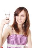 szklany dziewczyny wino Zdjęcia Stock