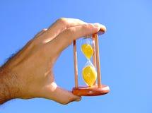 szklany gospodarstwa piasku Obraz Stock