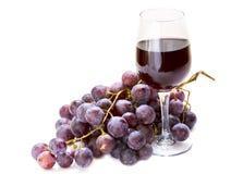 szklany gronowy czerwone wino Fotografia Stock