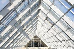 System od aluminium dla fasad i przejrzystych dachów Obrazy Royalty Free
