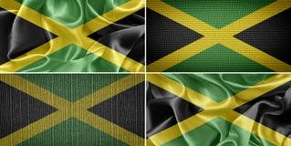 szklany Jamaica dostępne bandery stylu wektora Zdjęcia Royalty Free