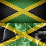 szklany Jamaica dostępne bandery stylu wektora Fotografia Royalty Free