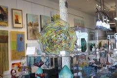 Szklany kawałek sztuka w Clifton sztuki szkła galerii Obraz Royalty Free