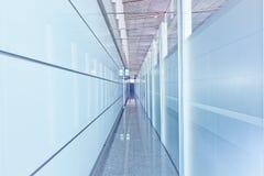 Szklany korytarza wnętrze Obraz Stock