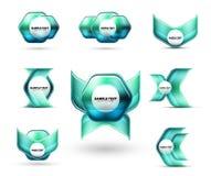 Szklany kruszcowy glansowany błyszczący abstrakcjonistyczny techno kształtuje dla twój wiadomości lub biznes prezentaci elementów ilustracji