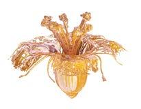 Szklany kwiatu 3d model royalty ilustracja