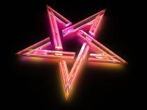 szklany ligh pentagrama znak Obrazy Royalty Free