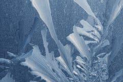 szklany lodowaty wzór Zdjęcie Royalty Free