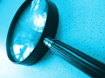 szklany magnifing Obraz Stock