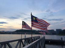 szklany Malaysia dostępne bandery stylu wektora fotografia stock