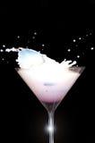 szklany Martini mleka pluśnięcie Fotografia Stock