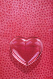 Szklany miłości serce Zdjęcie Royalty Free