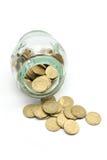 szklany moneta słój Zdjęcie Stock