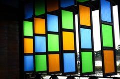 Szklany okno. Obrazy Stock