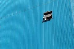 Szklany okno na żelazo ścianie Zdjęcie Royalty Free