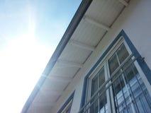 Szklany okno na domu Zdjęcie Stock