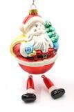 szklany ornament Santa Zdjęcie Stock