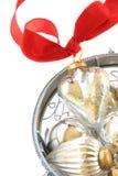 szklany ornamentu srebra Obrazy Royalty Free