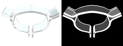 Szklany pęcherzowy symbol z białym tłem zdjęcie stock