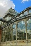 Szklany pałac El Retiro zdjęcia royalty free