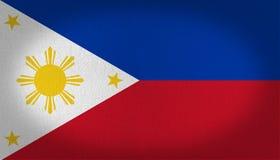 szklany Philippines dostępne bandery stylu wektora Zdjęcia Stock