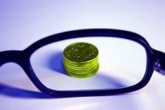 szklany pieniądze Zdjęcie Stock