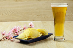 Szklany piwo zdjęcie stock