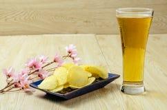 Szklany piwo zdjęcie royalty free