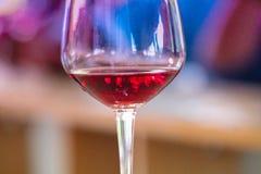 szklany plażowy lunchu wino Obraz Royalty Free