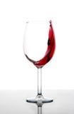 szklany poruszający czerwone wino Obraz Royalty Free