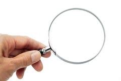 szklany ręki mienia target1015_0_ Obraz Stock