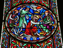 szklany religijny pobrudzony okno Obraz Stock