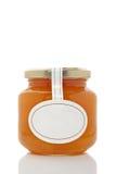 szklany słoik apricot Fotografia Royalty Free