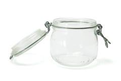 szklany słój Fotografia Stock