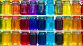 Szklany słój z barwionym cieczem Obraz Stock