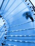Szklany schody Fotografia Royalty Free