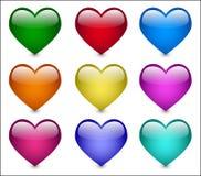 szklany serce Zdjęcie Royalty Free