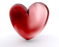 szklany serce Zdjęcia Stock