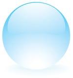 Szklany sfery błękit Zdjęcia Royalty Free