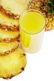 szklany sok ananasowy fotografia royalty free