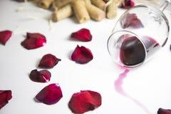 szklany stołowy wino obraz stock