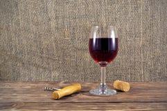 szklany stołowy wino Zdjęcia Royalty Free