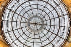 Szklany sufit w Mediolan Zdjęcie Stock