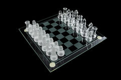 Szklany szachy Fotografia Royalty Free